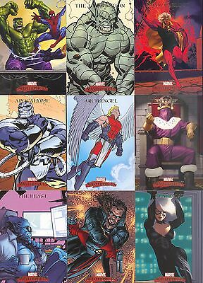 Marvel Masterpieces Series 1 2007 Upper Deck Complete Base Card Set Of 90