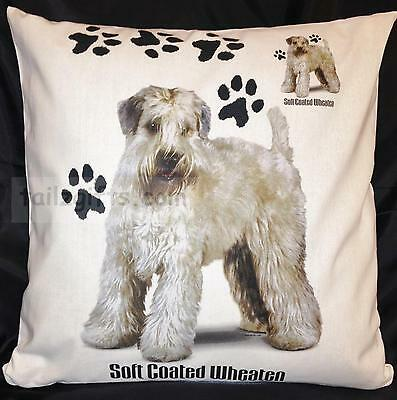 Wheaten Terrier Paws Breed of Dog Cotton Cushion Cover - Perfect Gift