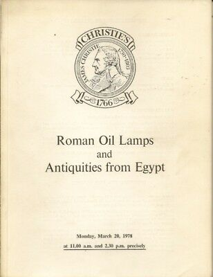 CHRISTIE'S Antiquities Roman Oil Lamps Glass Egypt 78