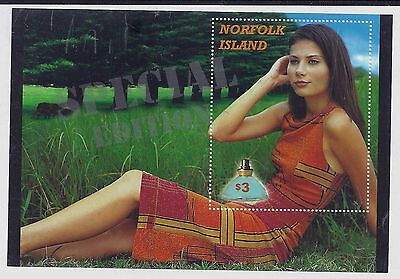 2001 Norfolk Island Perfume Mini Sheet Mint Mnh/muh With Special Edition Opt