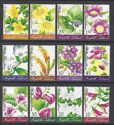 2002 Norfolk Island Flowers Definitives Fine Mint Complete Set Of 12 Mnh/muh