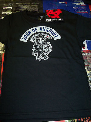 Sons Of Anarchy Classic Arched Reaper Toddler Shirt New !