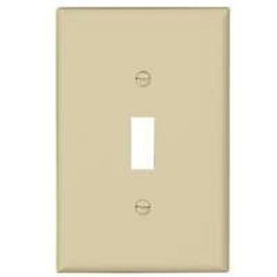 Cooper Wiring PJ1V-CP-L Midsize 1-Gang Toggle Plate, Ivory, Pack-10