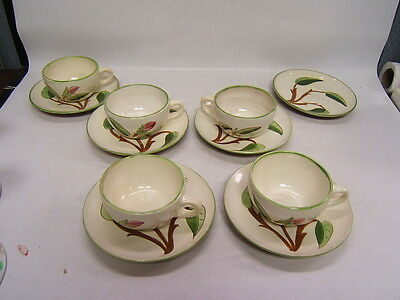 "Stangl Pottery China ""Prelude"" Trenton NJ USA 5 Cups 6 Saucers"