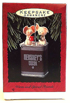 New Hallmark Keepsake Ornament Warm And Special Friends Dated 1993 Hershey's