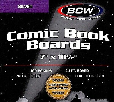 300 BCW Silver Comic Backing Boards  NEW