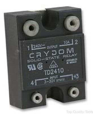 Solid State Relay, SPST-NO, 10 A, 280 Vrms, Panel, Screw, Zero Crossing