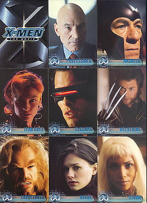 X-Men The Movie 1 2000 Topps Complete Base Card Set Of 72 Marvel