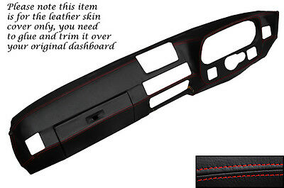 Red Stitch Fits Porsche 924 75-88 & 944 81-85 Dash Dashboard Leather Cover Only