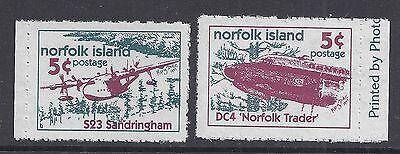 1999 NORFOLK ISLAND LOCAL POST BOOKLET STAMPS 5c PLANES MINT
