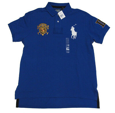 $125 Polo Ralph Lauren Mens Slim Custom Fit Snow Challenge Cup Big Pony Shirt