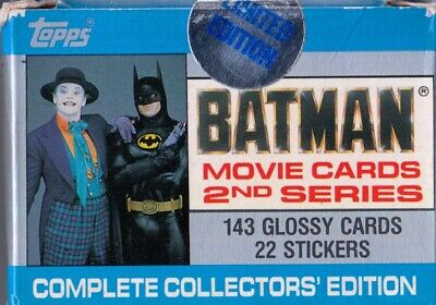 Batman The Movie Series 2 1989 Topps Factory Base Card Set Of 132 + 22 + 11 Dc