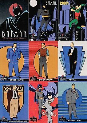Batman The Animated Series 1 1993 Topps Complete Base Card Set Of 100 Dc
