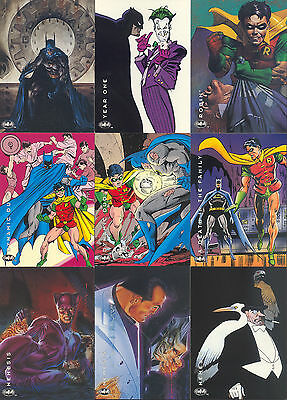 Batman Saga Of The Dark Knight 1994 Skybox Complete Base Card Set Of 100 Dc