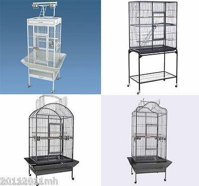 PawHut Large Metal Bird Cage Parrot Cockatoo Finch Play House Bird Supplies
