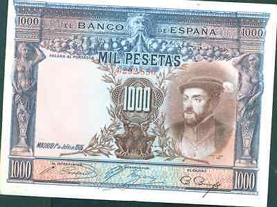 Spain 1000 Pesetas 1925. Xf Condition.