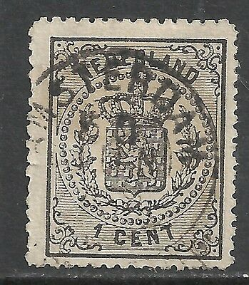 Netherlands 1869 NVPH 14P Plate Error without dot  CANC  VF