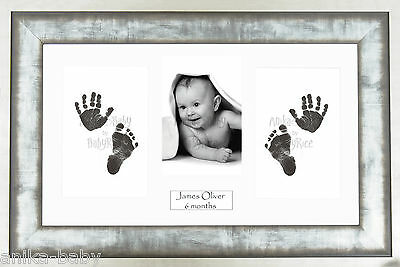 New Unisex Baby Unique Gift Handprint Footprint Inkless Kit -  Urban Metal Frame