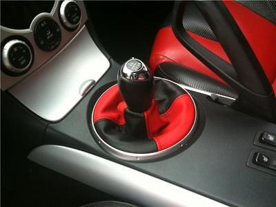 Fits Mazda Rx8 Black & Red Real Leather Shift Boot 2 Tone