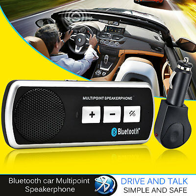 Bluetooth 4.0 Handsfree Car Kit Visor Clip Drive And Talk For iPhone 4 5 S4 UK