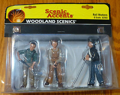 Woodland Scenics G Scale #2562  - Rail Workers - Scenic Accents (3 people)