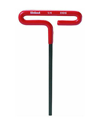 "Eklind 51610 Cushion Grip T-handle Hex Key, 5/32"" x 6"""