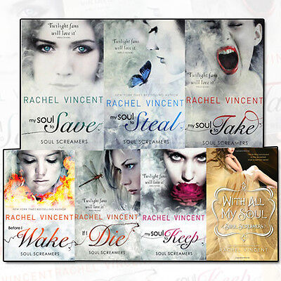 Rachel Vincent Soul Screamers Collection 7 Book Set(With All My Soul, If I Die,