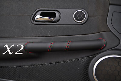 Red Stitch Fits Chrysler Crossfire 2003-2007 2X Door Handle Leather Covers