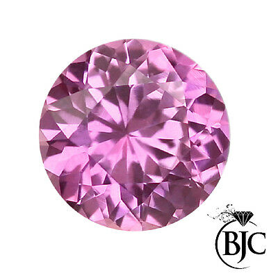 BJC® Loose Natural Pink Sapphire Round Cut Multiple Sizes Natural Stones