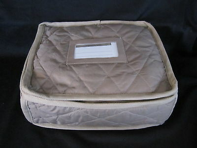 QUILTED STORAGE CASE for open oval VEGETABLE BOWLS