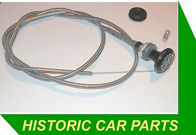 LOCKING CHOKE CABLE c/w Grommet, Wire Clamp for MGBGT MGB Roadster 1970-72