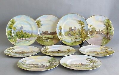 Fine Set of 12 Antique Royal Worcester Hand-Painted Cabinet Plates   Porcelain