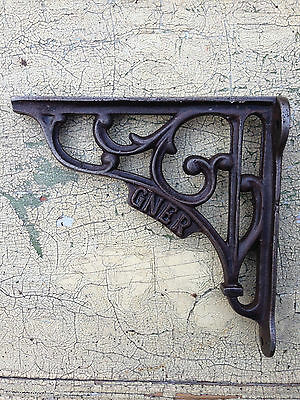 A Pair Of Small Classic Gner Victorian ~ Cast Iron Scroll Shelf Brackets