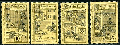 Saint Lucia 1984 Abolition Of Slavery - Black History  Mint  Set Of 4 Stamps!