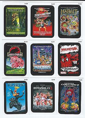 2013 Topps WACKY PACKAGES ANS Series 11 COMING DISTRACTIONS Insert Set (9 Cards)