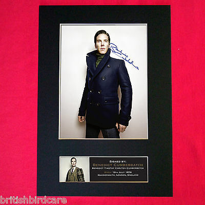 Benedict Cumberbatch Signed Autograph Mounted Photo REPRO PRINT A4 420
