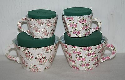 oasis teacups wet florist foam mothers day gift wedding flowers ideal gift craft