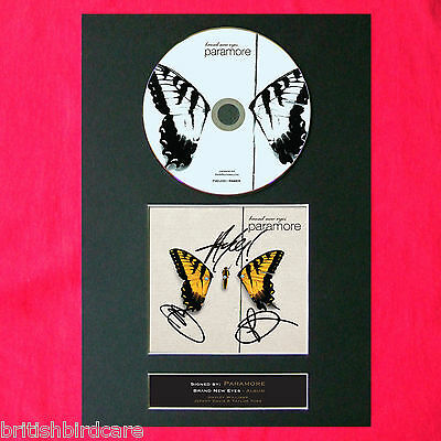 PARAMORE Brand New Eyes Album Signed CD COVER MOUNTED A4 Autograph Print (48)