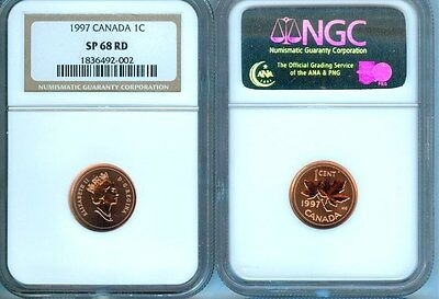 1997 Canada Cent  Ngc Sp-68 Red