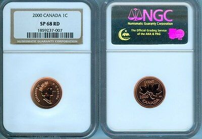 2000 Canada Cent  Ngc Sp-68 Red