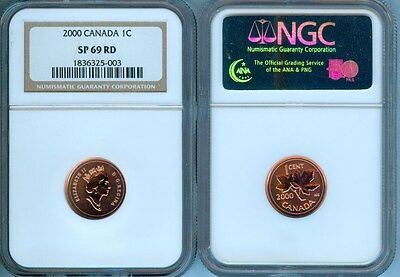2000 Canada Cent  Ngc Sp-69 Red