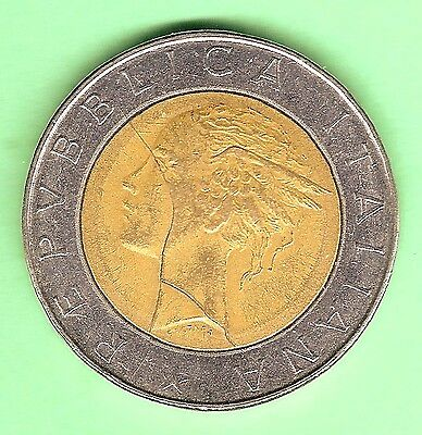 COIN - ITALY 500 LIRE - 1985 R  mint mark, error