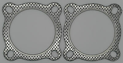 "EXHAUST FLANGE GASKETS 3"" 4 Bolt, Set of 2 Gaskets, Extractor, Collector NEW"