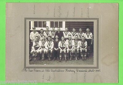 Two Early Australian Hockey Photographs - Autographed