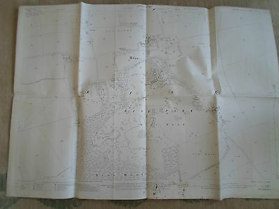 HOLDERNESS EAST YORKSHIRE EDITION OF 1927 Big Vintage Ordnance Survey Map Sheet