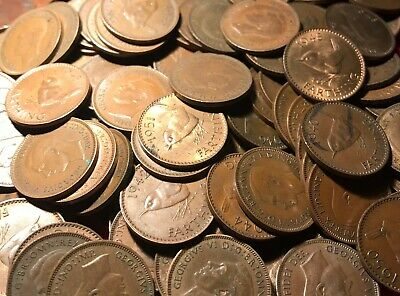 50x BRITISH BRONZE FARTHINGS WORTH A LOOK FREE UK POST