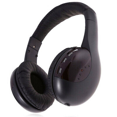 Cordless Headphone Wireless Headset With FM Radio For MP4 TV PC