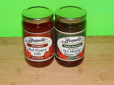 New 10.5oz Glass Jar Braswell's All Natural Pepper Jelly Jalapeno Mint Pear