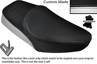 Black & White Custom Fits Yamaha Sr 125 Dual Leather Seat Cover