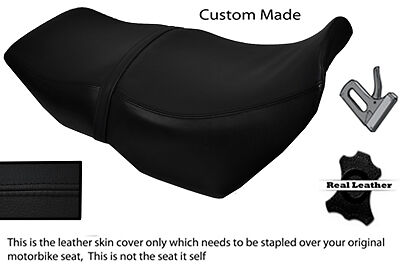 Black Stitch Custom Fits Bmw K75 K100 Long Real Leather Seat Cover